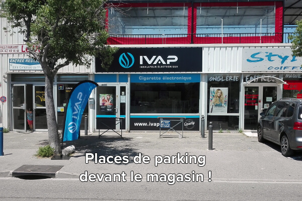 boutique de vape avec parking